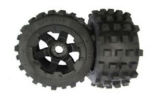 Baja 5b Rear MX Knobby Tyres on 6 Spoke Metal Hex Rims Fit HPI Rovan King Motor