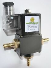 Fuel tank selector solenoid valve bio diesel Pöl SVO WVO UCO 12v 10mm Veg oil