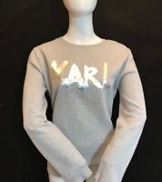 "BNWT KARL LAGERFELD Ladies ""KARl"" Sweat Pale Grey with Metalic Silver Logo UK M"