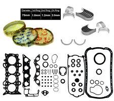 01-05 Honda Civic EX HX D17A2 1.7 SOHC FULL SET & PISTON RINGS & ENGINE BEARINGS