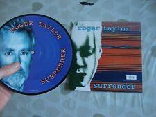 "Roger Taylor Surrender 7"" vinyl picture disc single UK (Queen)1999 Never Played"
