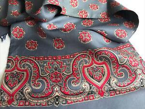 Mens Vintage Silk Style Scarf Geometric Paisley Patterned Retro Cravat Necktie