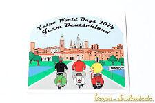 """Dekor Aufkleber """"Vespa World Days 2014"""" - Team Deutschland Germany VCD Mantova"""