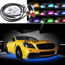 4Pcs RGB LED Under Car Wireless Remote Tube Strip Underbody Neon Light For Dodge