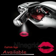 2X LED Car Door Laser Projector Ghost Shadow Auto Lamp Light Logo Kiss Pink Lip