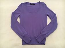 HERRINGBONE Sydney Purple Made in Italy Cotton Knit Jumper Size S