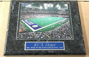 RCA DOME INDIANAPOLIS COLTS FRAMED 8X10 PHOTO-MAN CAVE ART-12X15 WALL PLAQUE