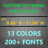 Personalized Custom Vinyl Lettering Decal Sticker (Window, Wall, Car) Text Name