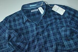 Tommy Bahama Shirt Double Indigo Bering Blue ST325040 LS New XX-Large XXL