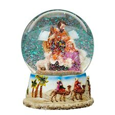 Christmas Decoration - Wind Up / Musical Snow Globe - 100mm - Nativity