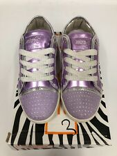 ZEBRA GIRL'S LIGHT PURPLE CASUAL CANVAS TRAINERS/SNEAKERS IN SIZE UK 12 ,EU 31