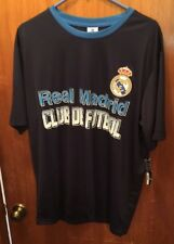 New Real Madrid Club De Futbol Navy Blue Jersey Size Adult Large