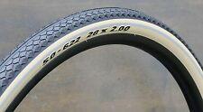 "700x50 Antique Cream White SWCen 29er Schwalbe Bicycle Tires 28"" Wood Wheel Bike"