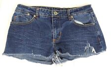 Akademiks Akdmks Women's Denim Shorts  Size 29   Blue Jean Cut off Distressed