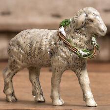"New Primitive Vintage Antique German Style Lamb Winter Sheep Figurine Figure 6"""