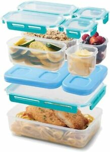 Rubbermaid LunchBlox Large Entree Kit Leak-Proof Lunch Container Blue