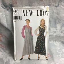 New Look 6420 maxi dress mori lagenlook vintage UNCUT sewing Pattern size 8-18