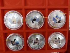 """Canada - 6x 5 Dollar 2014 """"Wildlife Serie I. (Ausgabe 1-6)"""" 6 Unzen .9999 Silber"""