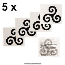 5 BDSM Logo Tattoos - Trieksel Symbol - Trieske BDSM Tattoo - temporary tattoo