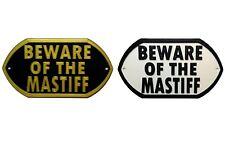 Beware Of The Mastiff - 3D Printed Dog Plaque - Door Gate Garden Sign