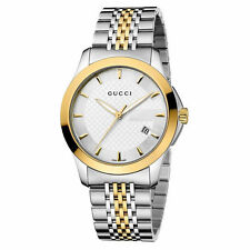 3ba1c199a1d New Gucci G-Timeless Silver Dial Two Tone Gold YA126409 38mm Watch