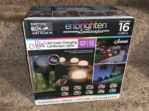 Enbrighten Color Changing Outdoor 12-Light 22' Mini LED Landscape Path Lights