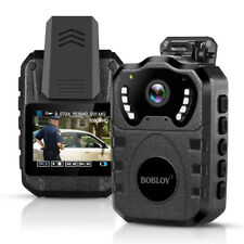 Boblov Police Body Worn Camera 1080P HD 32G Security Mini Video Camcorder DVR