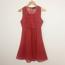 Revival Dangerfield Red Print 50's Dress | Size 8 | Light Summer Fabric