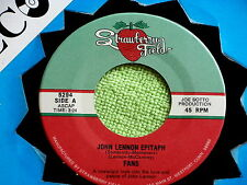 FANS~JOHN LENNON EPITAPH~NEAR MINT~BEATLES~MEGA RARE~NOSTALGIC ~ POP 45