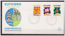 Surinam / Suriname 1975 FDC 1 Independance basketball map of Surinam