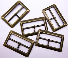 "Qty 2x Belt Buckle Ladies Fashion BRONZE METAL BUCKLE W/Pin Suit 2"" / 50mm BELT"