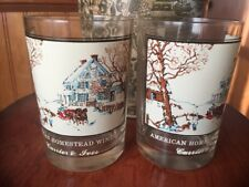 Arbys Collector's Series 1981 Currier and Ives Glass- American Homestead Winter