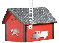 Deluxe Poly Fire Dept. Mailbox w/ Aluminum Plate Roof