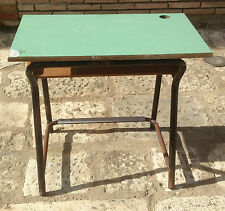 Vecchio banco da scuola anni 70 vintage modernariato formica scrittoio scrivania