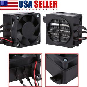 Constant Temperature PTC Fan Car Heater Small Space Heating Incubator 12V 100W