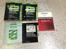 1990 Toyota Camry Service Repair Shop Manual Set W Wiring + Transaxle Books OEM