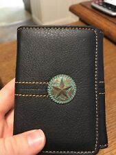 Montana West Antique Texas Star Concho Men's Genuine Leather Western Wallet