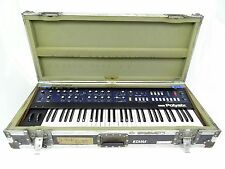 KORG PolySix Vintage Analog Programmable Synth w/ Flight Case PS-6 Nice Working