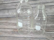Pyrex Round Graduated Bottles 1395 500 1000 Ml Lot Of 2 Round Media Chemistry