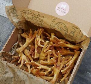 Box Dried Chicken Feet x25 - 100% Natural Healthy Dog Treats Chews Gluten