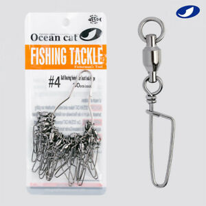 100x//lot Brass Barrel Swivel With Interlock Snap Fishing Lure Tackle Connector