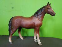"Vintage Horse Figurine Porcelain Ceramic Made in Japan 1814 Brown White 6"""