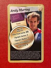 Andy Murray - Top Trumps (GOLD Ltd Ed) - London Olympics card  - VGC