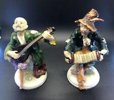 Porzellanfabrik E.&A. Müller 1890-1827 Peasants Playing Music Porcelain figurine