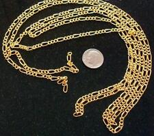 12 ft Yellow gold plated figaro link chain 7 links per in 7x3.5mm-4x3.2mm pch058
