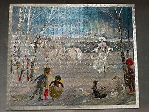 Vintage Foil Jigsaw - Arrival Of The Snow Queen - Janet & Anne Grahame Johnstone