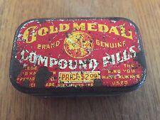 Gold Medal Compound Pill Box Vintage Antique