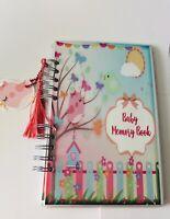 Baby Journal, Baby Book, Baby Journal And Memory Book, Pink Garden