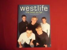 Westlife-The Best So Far. Carnet de chansons partition piano vocal guitar PVG
