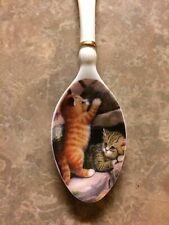 Purr-fect Delights Heirloom Porcelain Spoon Cat Collection By Bradford Editions